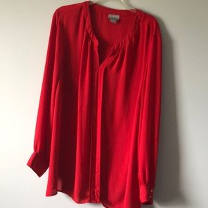 2x Red top liz Claiborne